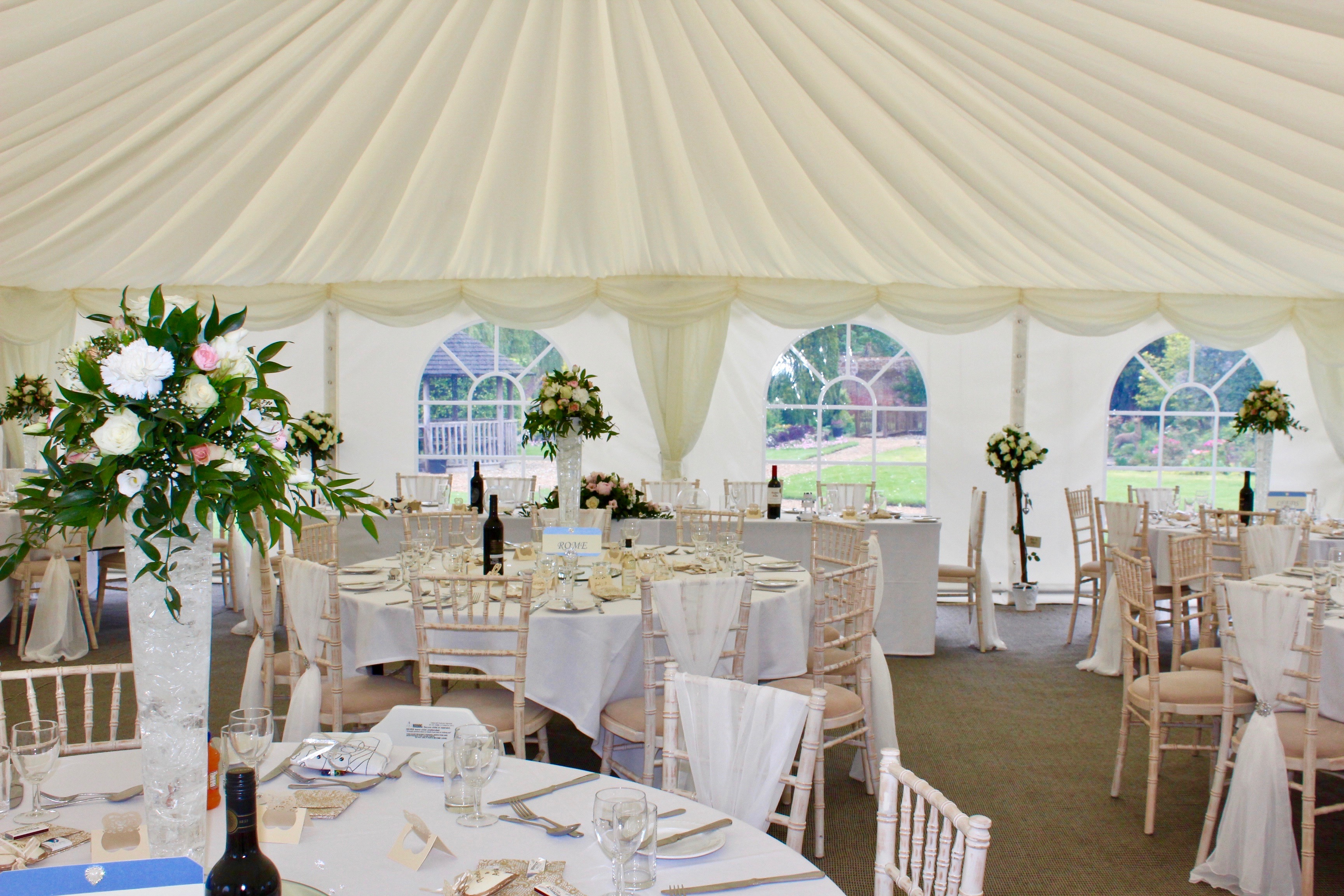 Reception round tables