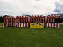 Fair ground stalls