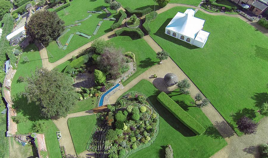 Aerial view Orangery Suite