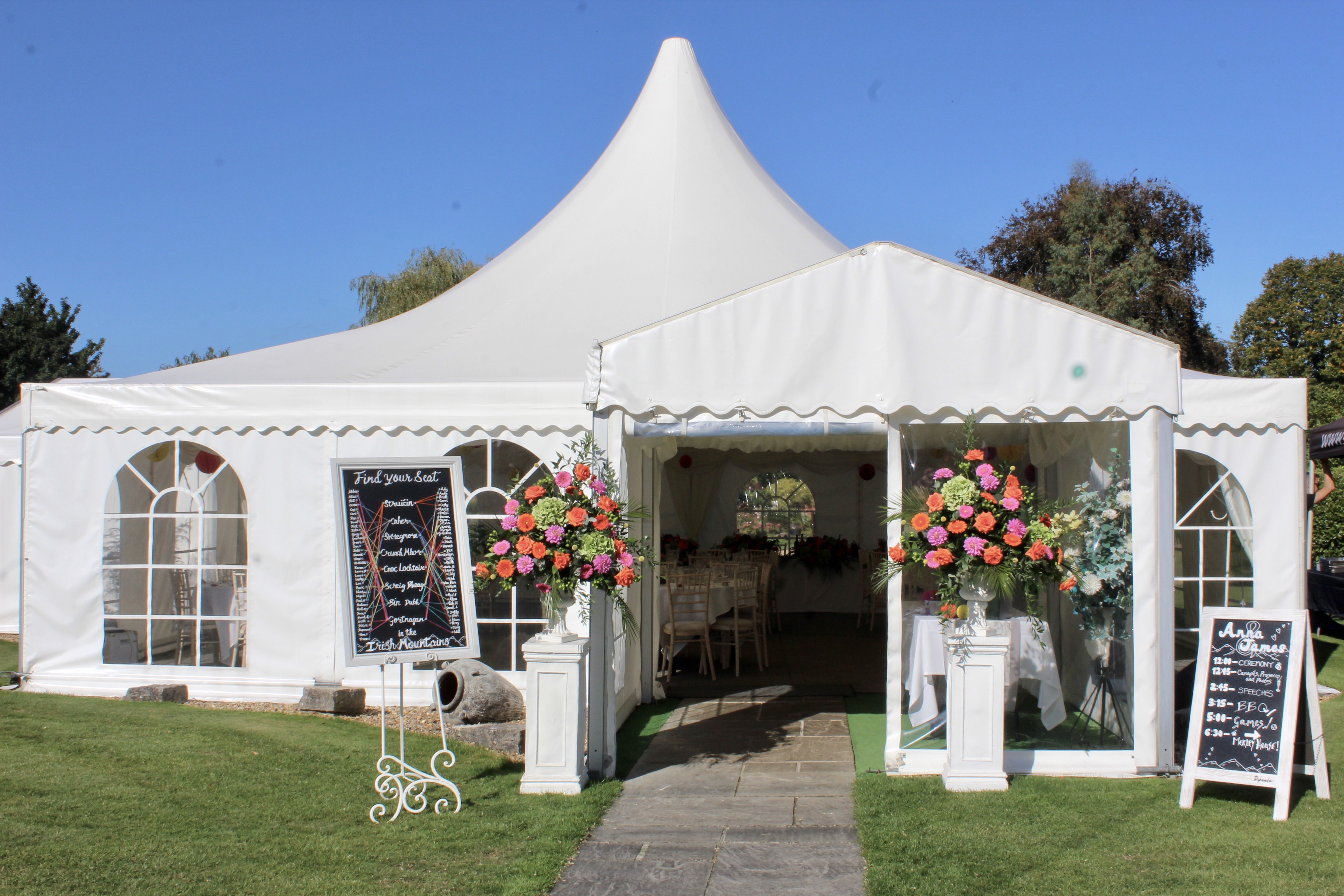 Marquee entrance porch