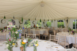 Marquee decorations