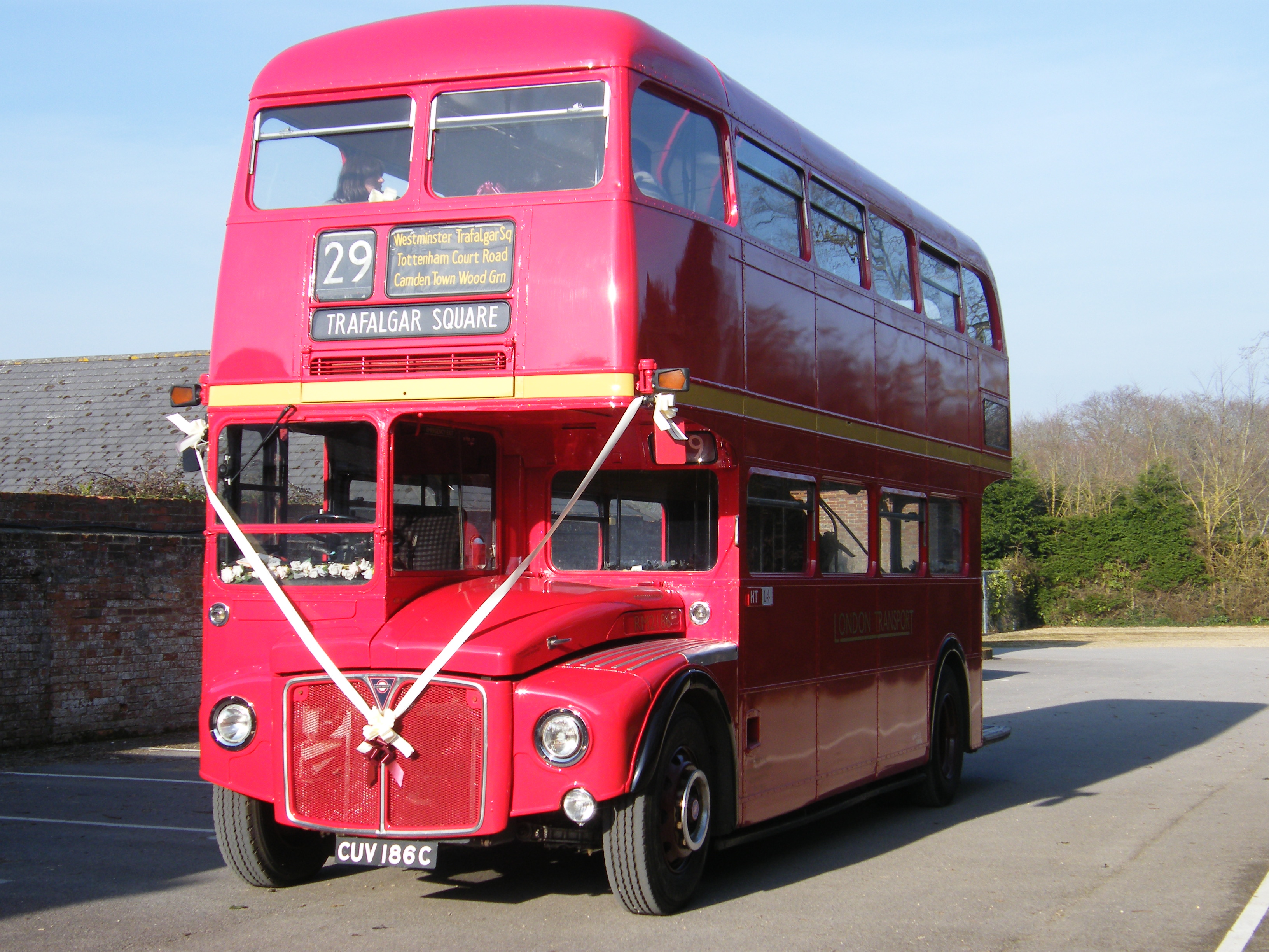 Old fashioned double decker bus
