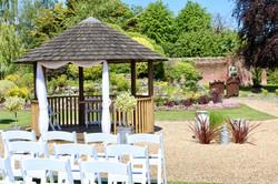 Orangery outdoor wedding ceremony