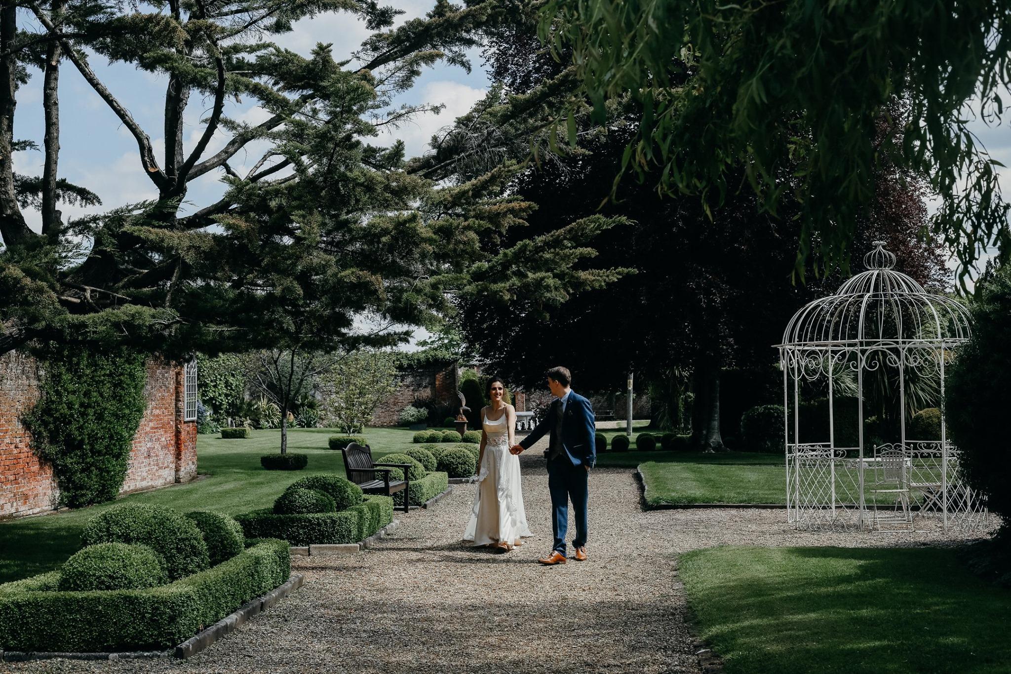 Models wedding venue photoshoot