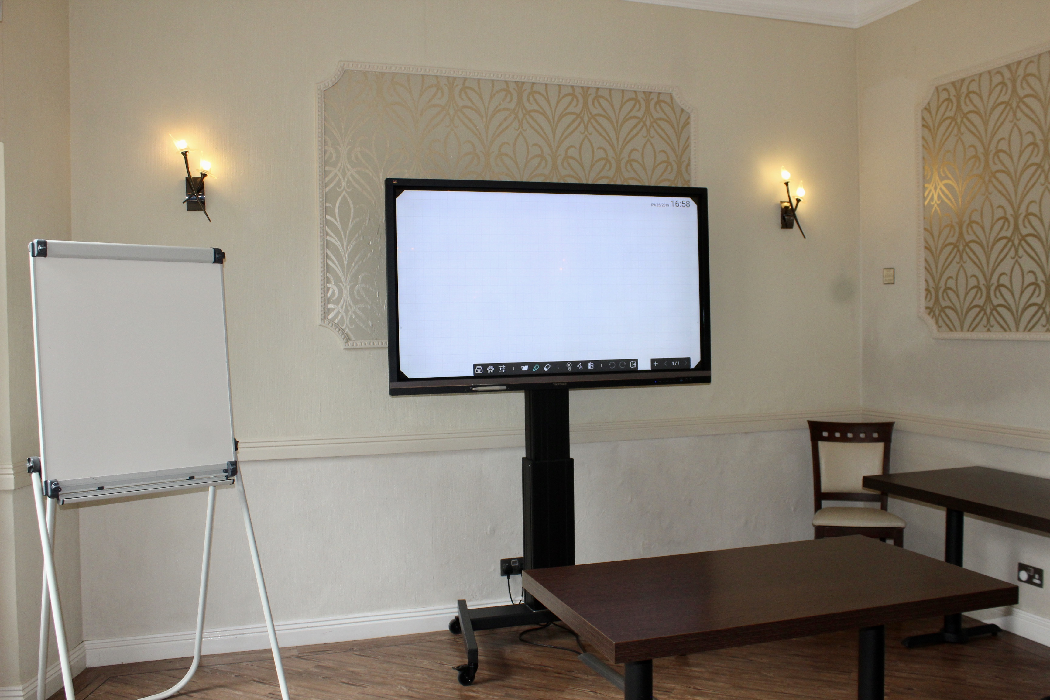 Corporate venue monitor and presentation equipment