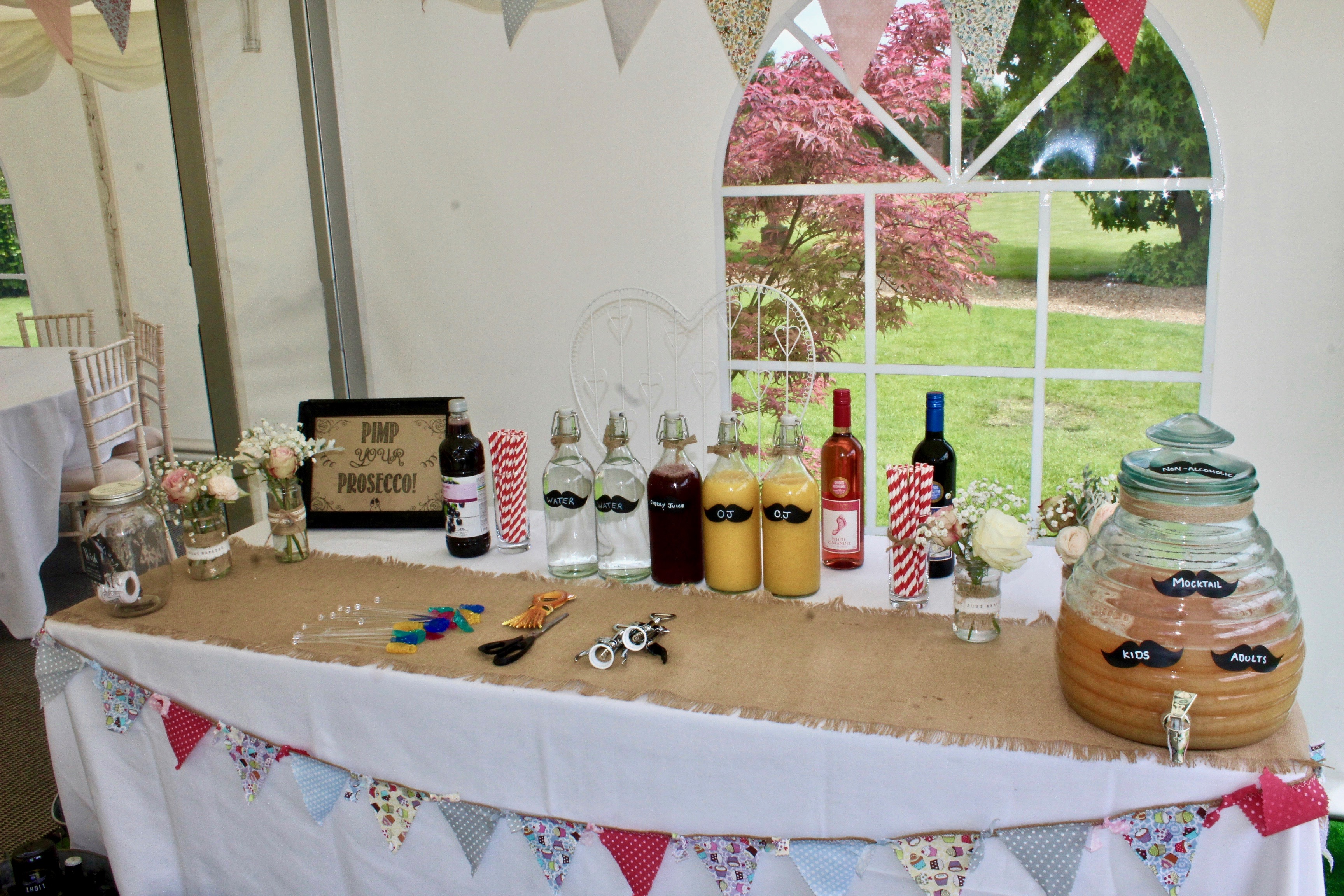 Marquee welcome table