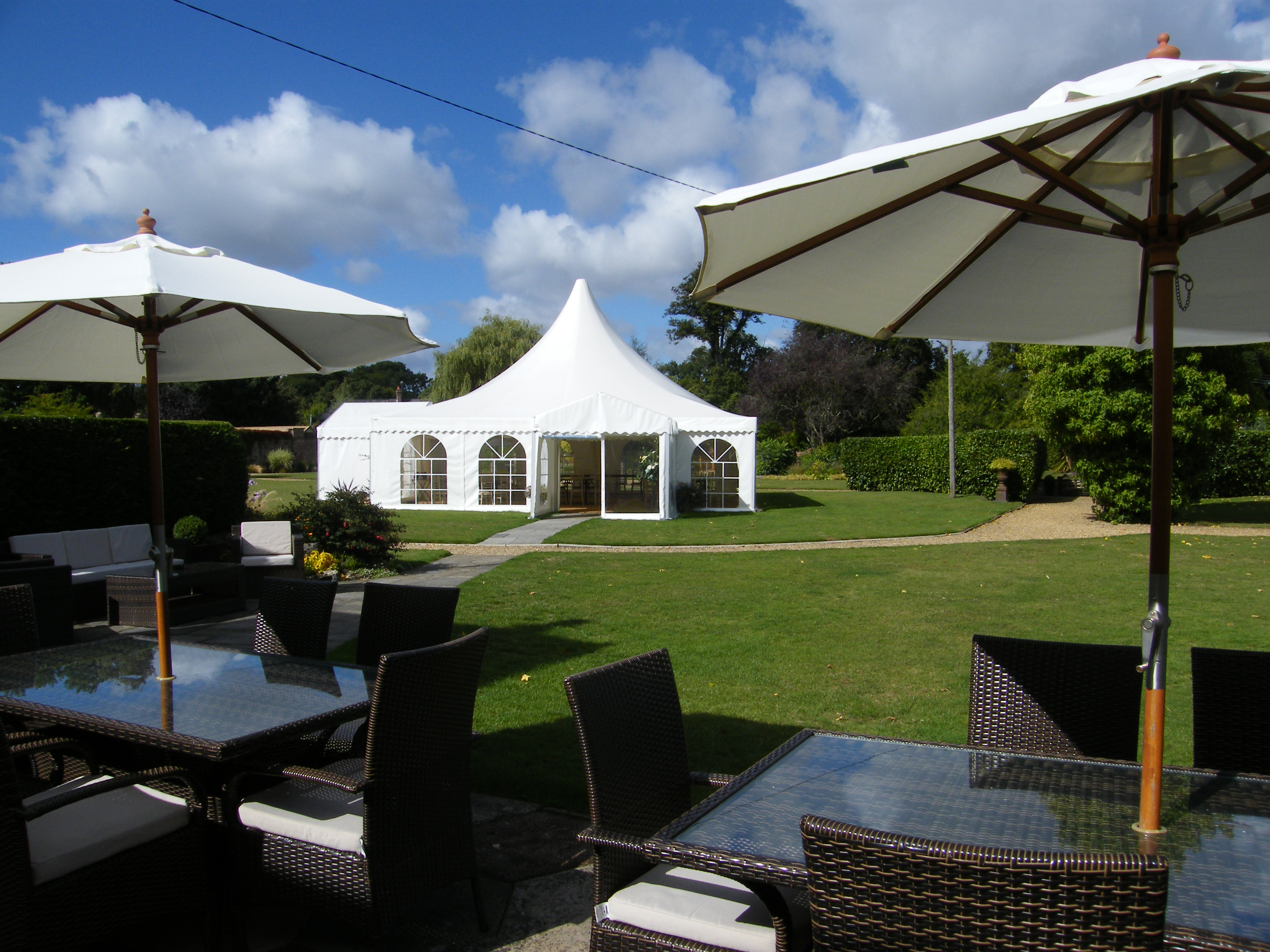 Pagoda style marquee