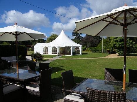 Orangery Suite terrace parasols