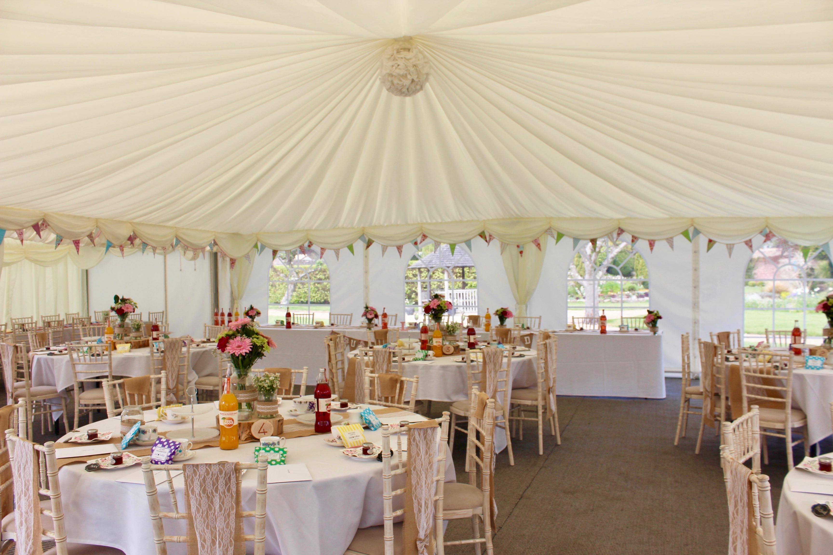 Marquee wedding reception