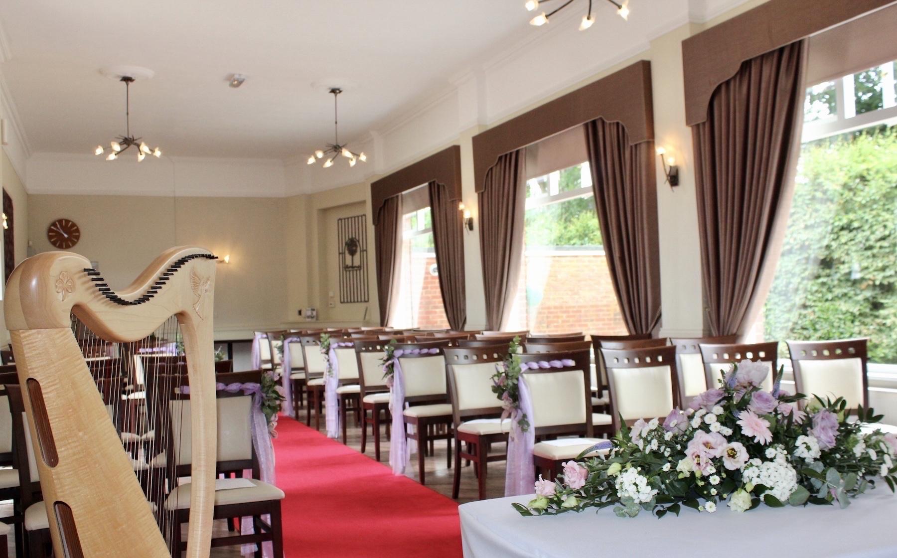 Indoor wedding ceremony Dorset
