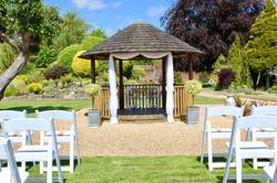 Outdoor wedding ceremony venue