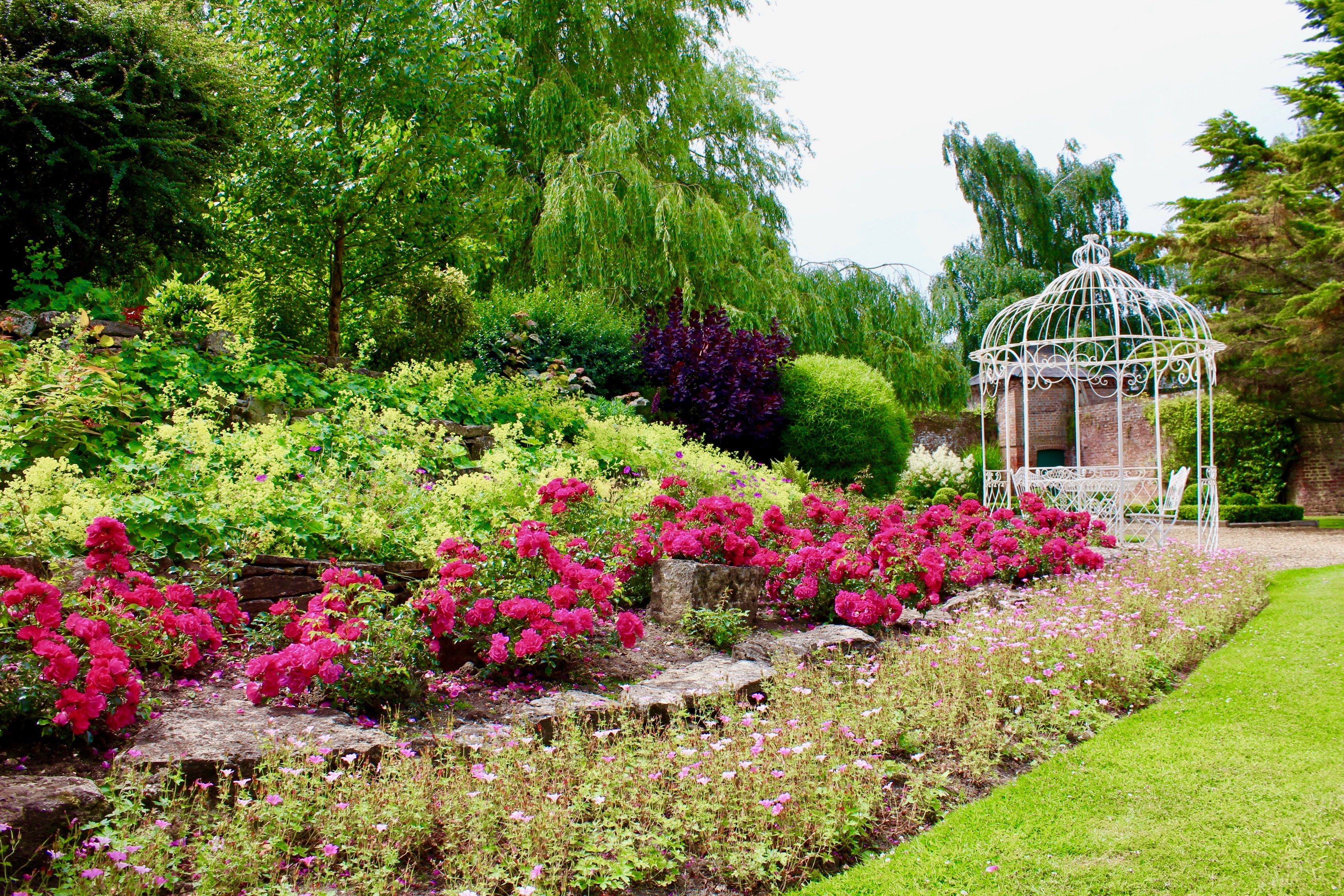 Landscaped walled garden