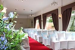 Indoor ceremony flowers