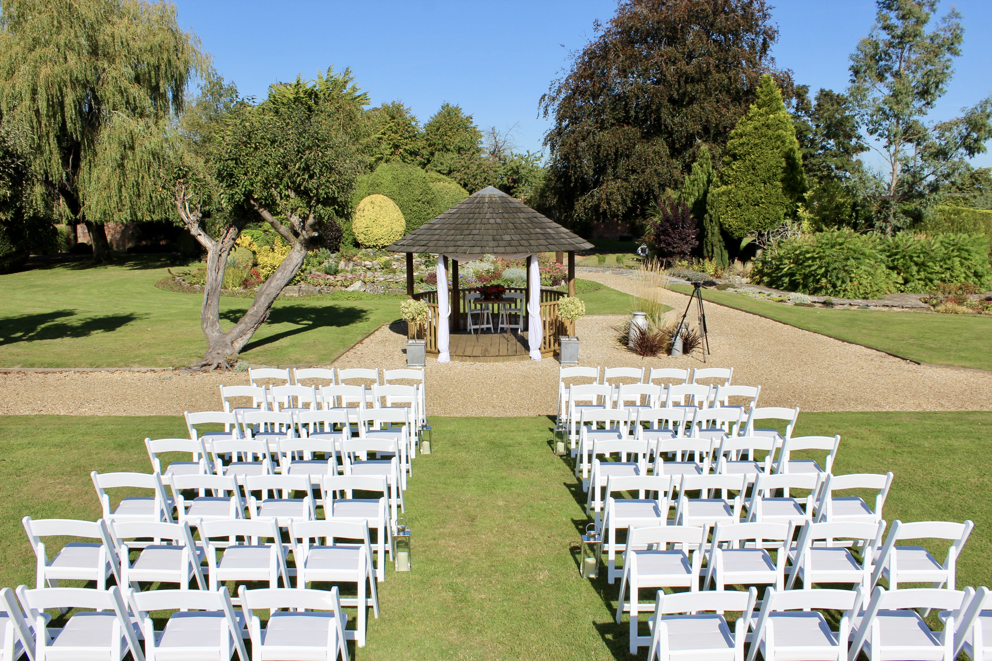 Outdoor wedding ceremony Poole