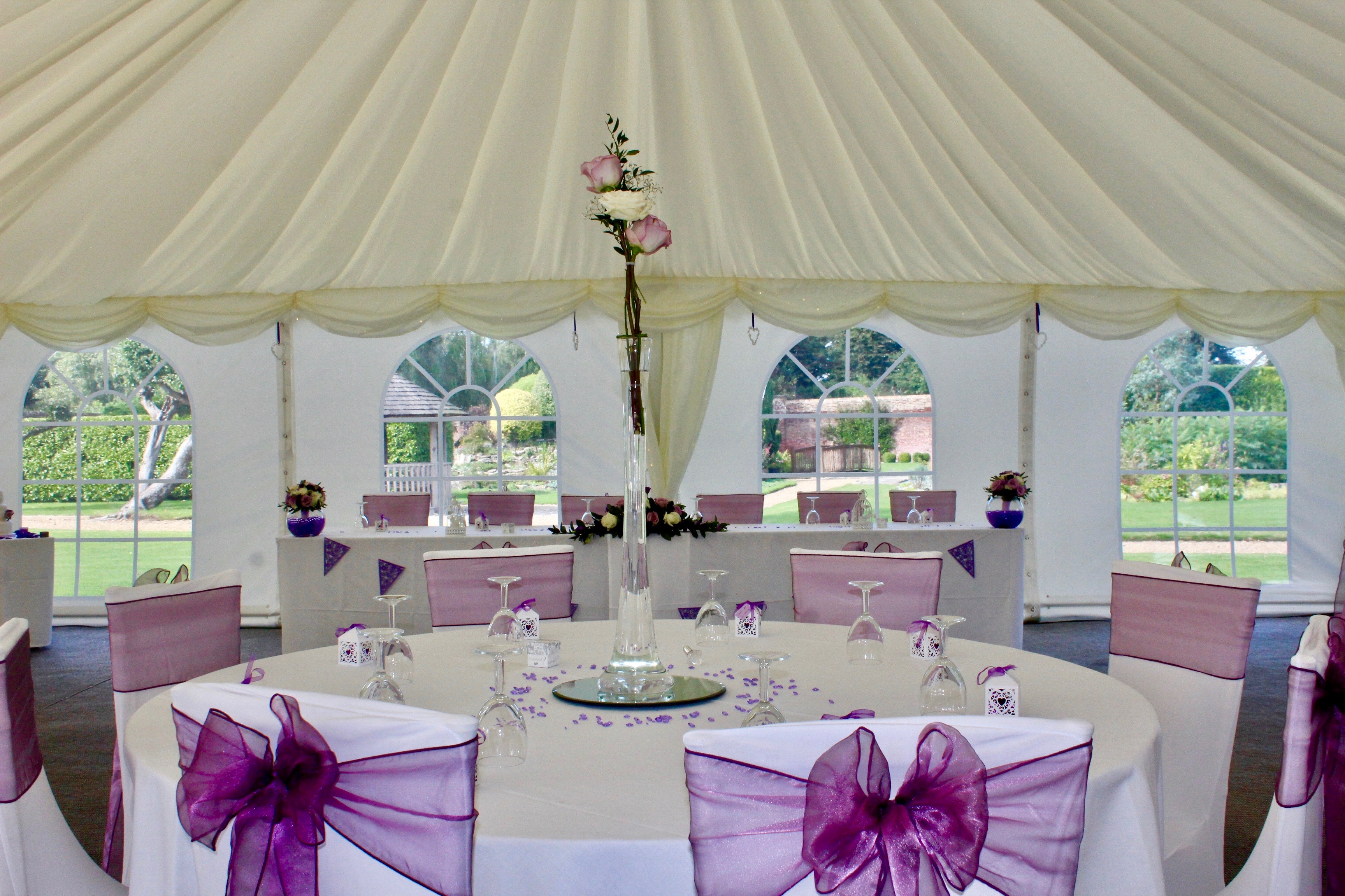 Marquee reception top table
