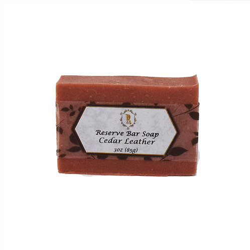 Cedar Leather Bar Soap