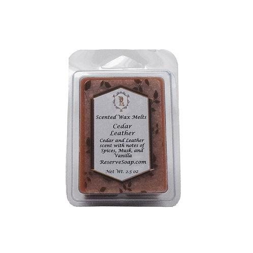 Cedar Leather Wax Melt