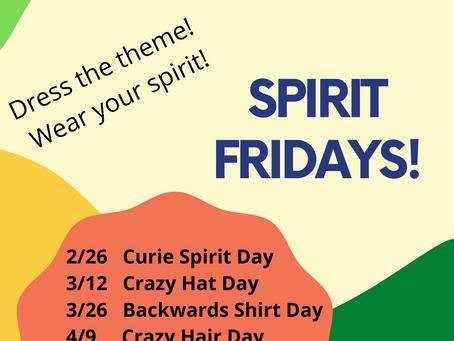 Curie Spirit Fridays Start 2/26!