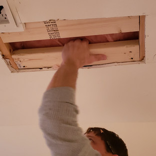 Reframing Ceiling for Projector