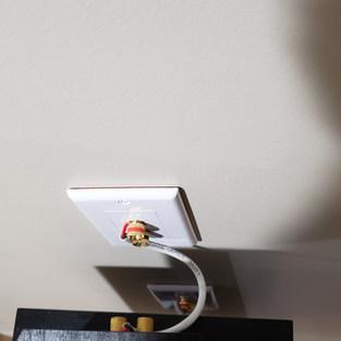 Installed Speaker Wall Plate