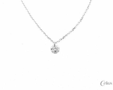 יהלום צף - Floating Diamond - זהב לבן
