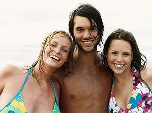 Amici alla spiaggia