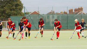 First training sessions of the season (U14/U12 boys and mixed indoor hockey)