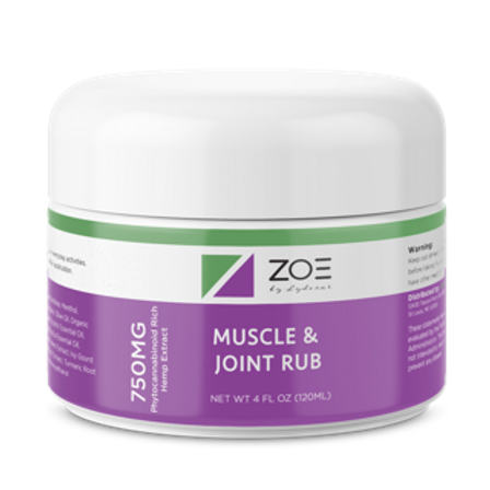 ZOE Muscle Rub Cooling Gel Canister 750mg