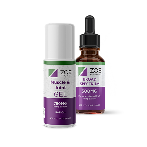 ZOE Workout Pack (450mg Roll-on & 500mg Broad)