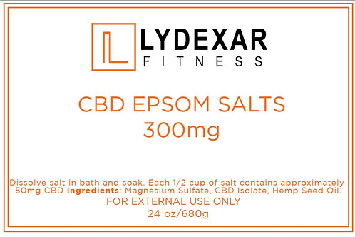 Fitness CBD Bath Salts 300mg