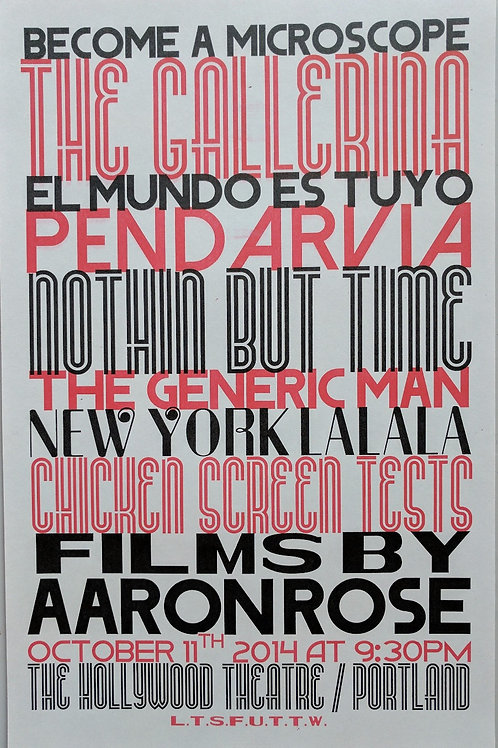 Films By Aaron Rose Poster (11x17)