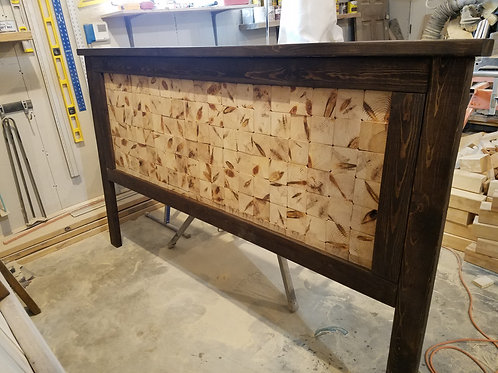 End Grain King Headboard