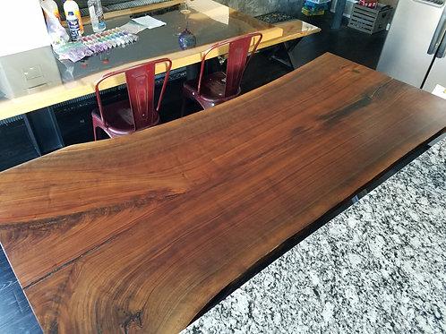 Single Slab Walnut Table