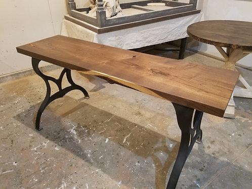 Walnut Sofa/Entry Table