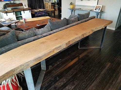 Long Oak Sofa Table