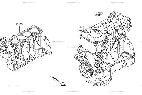 CR14DE Bare block engine