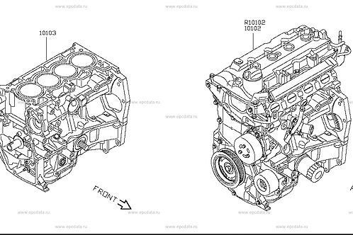 HR15DE Bare Engine