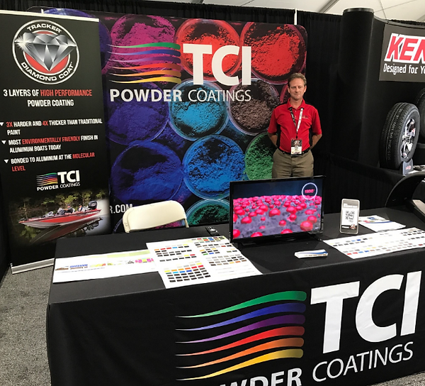 The Alias Group Trade Show Design Work: TCI Powder Coatings Tracker Boat Conference Trade Show Booth