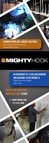 The Alias Group Advertising Work: Mighty Hook CFCM Magazine Ad Fabtech Canada Feature