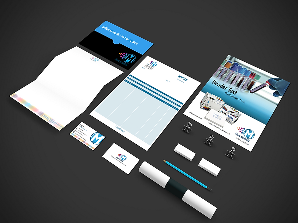 Miles Scientific brand guide creation and brand collateral creation - Branding Services by The Alias Group