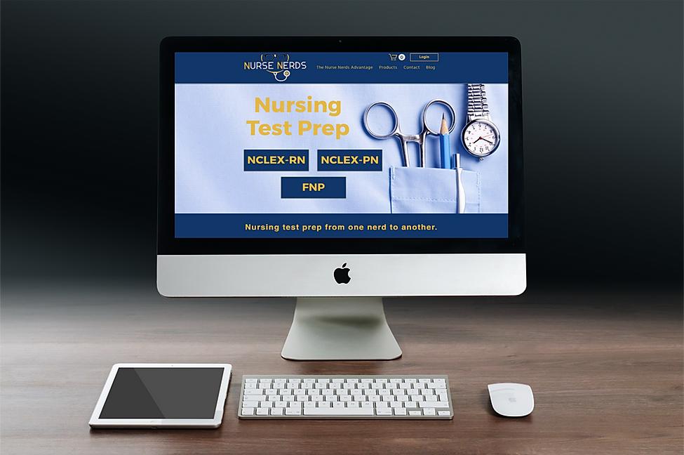 Nurse Nerds website creation - Branding Services and Website Services by The Alias Group