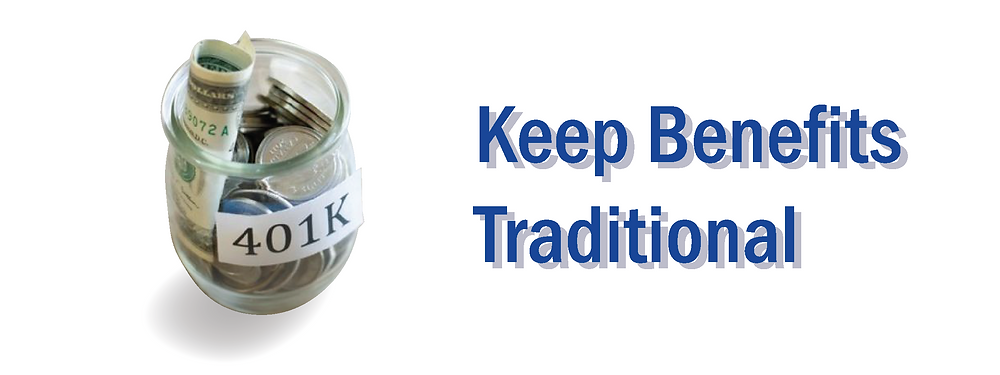 Keep Benefits Traditional -  Local sales and marketing company - Newark, Delaware
