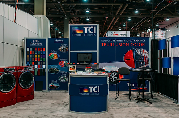 The Alias Group Trade Show Design Work: TCI Powder Coatings Fabtech Trade Show Booth