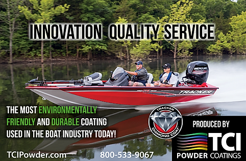 The Alias Group Advertising Work: TCI Powder Coatings Tracker Boat Golf Tournament Ad
