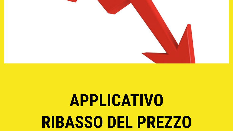 Applicativo ribasso del prezzo