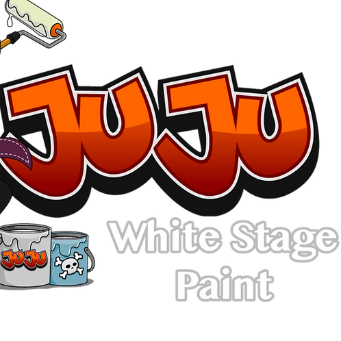 JuJu White Stage Paint