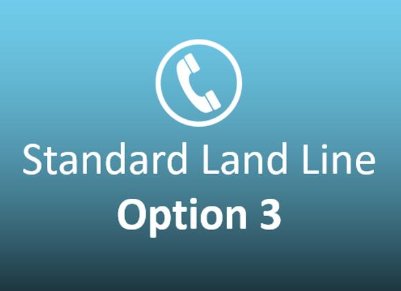 Standard Landline Option 3