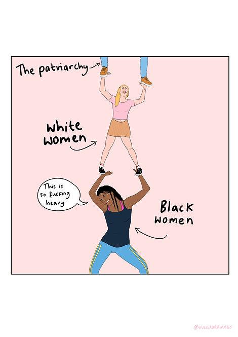 White Feminism Pyramid Print