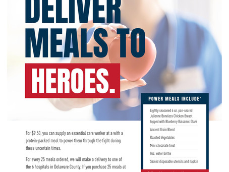 Delco Frontline meals to the Delco Hospitals