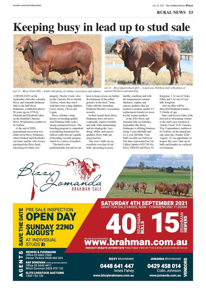 Great Write up - Northern Rivers Times July 22nd 2021